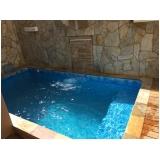 construção de piscina aquecida pequena Ilha Bela