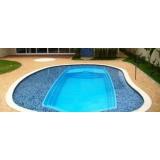 construção de piscina fibra Poá